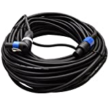 Seismic Audio - TW12SRT100-100 Foot Speakon to Speakon to Right Angle Speakon PA/DJ Speaker Cable - 2 Conductor - 12 Guage