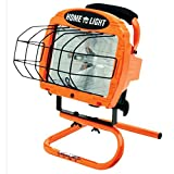 Contractor Grade Halogen Work Light w/ Sled Base & 500 W Bulb, 3' Cord, Black/Copper (3 Pack)