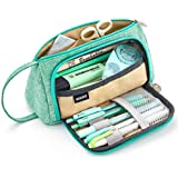 EASTHILL Large Capacity Pencil Pen Case Bag Pouch Holder Multi-slot School Supplies For Middle High School Office College Girl Adult Simple Storage Mint Green