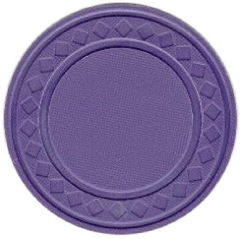 Purple Poker Chip - Trademark Poker Super Diamond Clay Composite Chips (Set of 100), 8gm, Purple