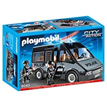 Playmobil 6043 - City Action - Police Van with Lights and Sound by PLAYMOBIL