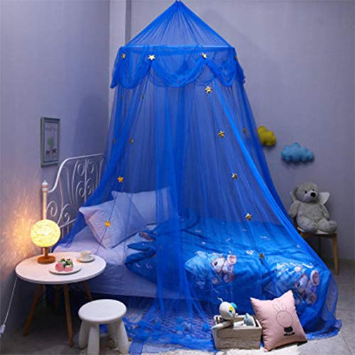 Bed Canopy Play Tent Bedding for Kids Playing Reading with Children Round Lace Dome Netting Curtains Baby Boys and Girls Games House