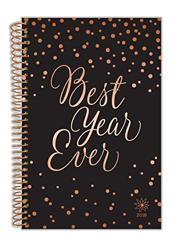 """bloom daily planners 2018 Calendar Year Daily Planner - Passion/Goal Organizer - Monthly and Weekly Datebook Organizer - January 2018 - December 2018 - 6"""" x 8.25"""" - Best Year Ever"""