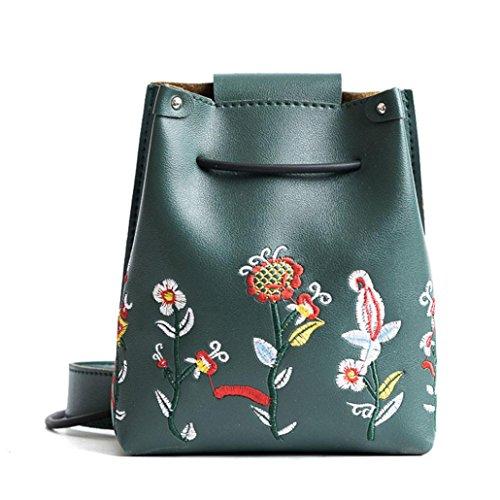 bolsa de niñas Simple crossbody floral Verde bolso por hombro las bolso Morwind retro 0awHxOw