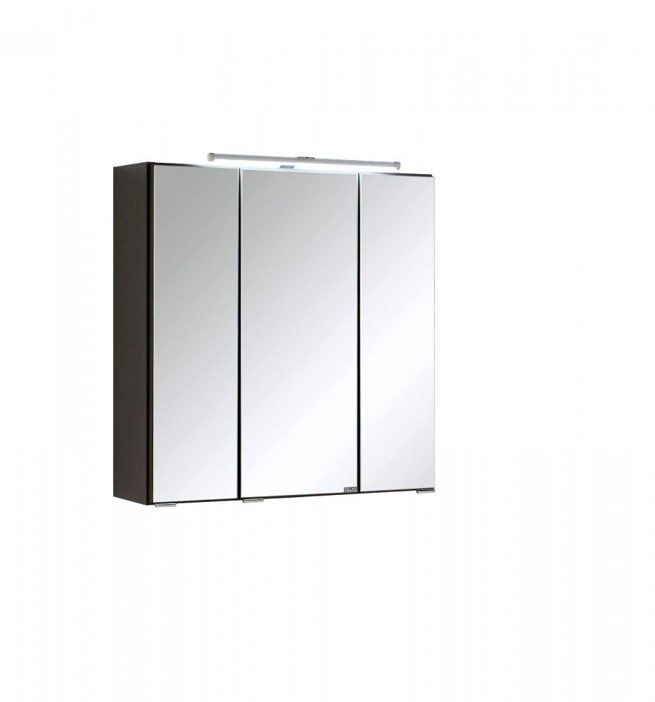 Held Möbel 003.1.0042 Spiegelschrank, Holzwerkstoff, anthrazit, 20 x 60 x 66 cm