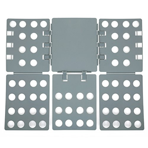 Songmics 3. Generation einstellbar Wäsche Faltbrett Falthilfe A4 Flip & Fold Kunststoff 57 x 68 cm gris LCF004