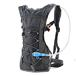 Hydration Pack Backpack with 70 oz 2L Water Bladder for Running, Hiking, Cycling, Climbing, Camping, Biking (BLACK)