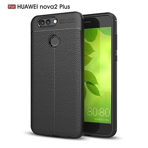 Huawei Nova 2 Plus Case, DAIBO Silicone Gel Rubber Perfect Slim Fit Soft Mobile Phone Case for Huawei Nova 2 Plus Case (5.5 inch) - Black