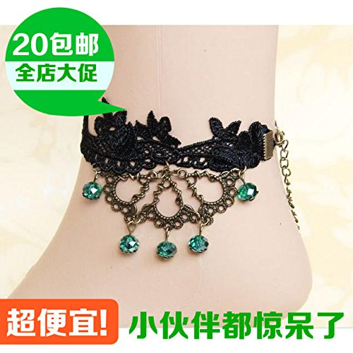 Bloom Kids Shoes (usongs yuan retro lace lace flowers bloom Water Drops Water Drops Foot Chain anklet ankle chain foot ring Foot Chain anklet)
