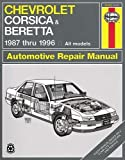 Chevrolet Corsica & Beretta 1987 Thru 1996, All Models - Automotive Repair Manual