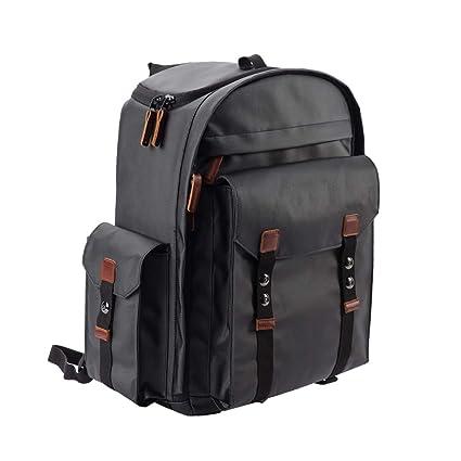 Bolsa De Fotografía para Exterior Cámara SLR Profesional Mochila para Cámara SLR (Color : Black
