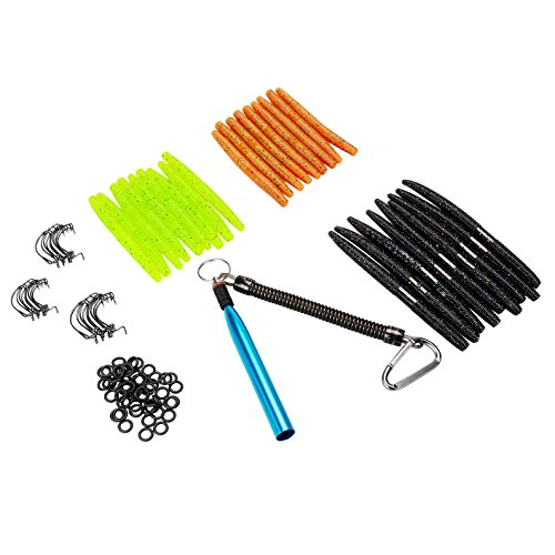 PLUSINNO Fishing Lures Baits Tackle, 102 Pcs Including Frog Lures, Hard Lures, Crankbaits, Spinnerbaits, Spoon Lures, Soft Lures, Popper, Crank, Tackle Box and More Fishing Gear Lures Kit Set (Fishing Plastic Worms compare prices)