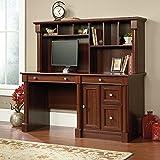 Sauder 420513 Palladia Computer Desk and Hutch, Cherry