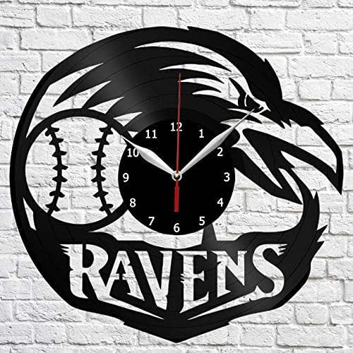 Baltimore Ravens Home Decor: Amazon.com: Baltimore Ravens Idea Vinyl Record Wall Clock