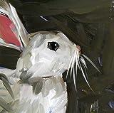 Bunny Rabbit no. 2 art print by Angela Moulton 6 x 6 inches -  Pratt Creek Art