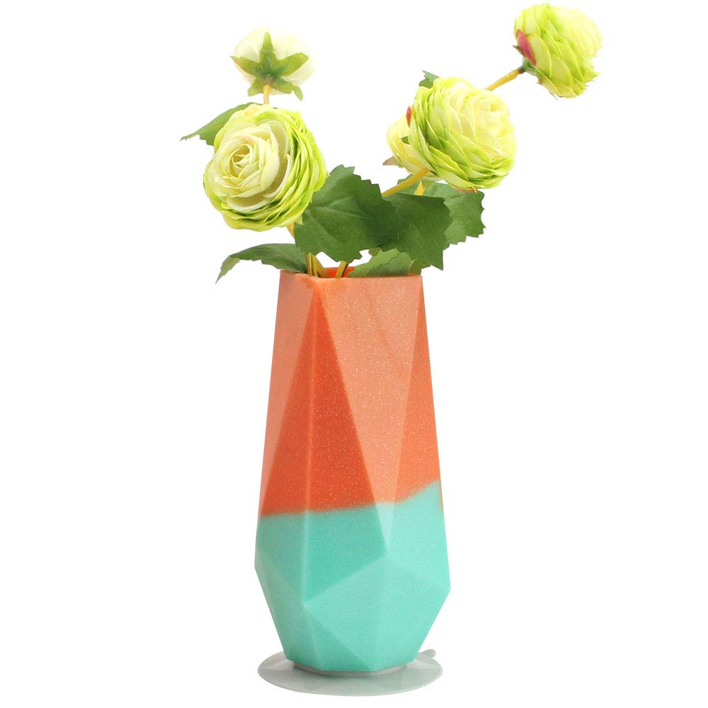 225 & Wee me Unbreakable Silicone Flower Vase Decorative Flower Vase for Home Decor Living Room Table Home Centerpiece,Wedding and Office 1 Pack