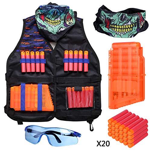 Kids Tactical Vest Kit Compatible with Nerf Guns N-Strike