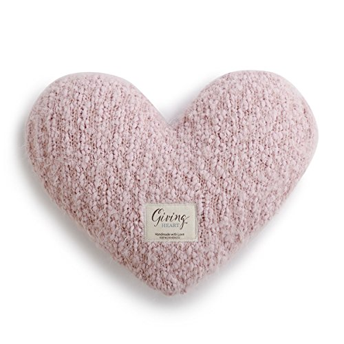 Find Bargain DEMDACO Heart Shaped Weighted 10 x 11 Plush Weighted Decorative Giving Pillow