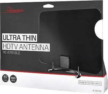 Rocketfish Ultra fino HDTV Antena Reversible rf-ant316 negro/blanco