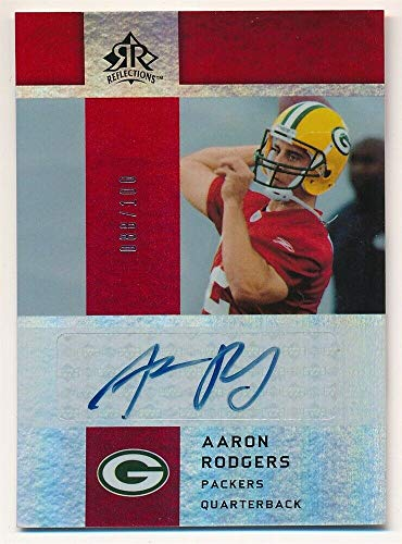 BIGBOYD SPORTS CARDS Aaron Rodgers 2005 UD Reflections RC Rookie RED Autograph Packers AUTO SP - Ud Card 2005