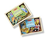 melissa and doug fridge magnets - Melissa & Doug Wooden Magnets Set - Animals and Dinosaurs With 40 Wooden Magnets