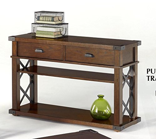 (Progressive Furniture P527-05 Landmark Sofa/Console Table, 48