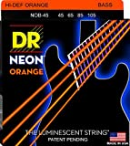 DR Strings NOB-45 Nickel Coated Bass Guitar Strings, Medium