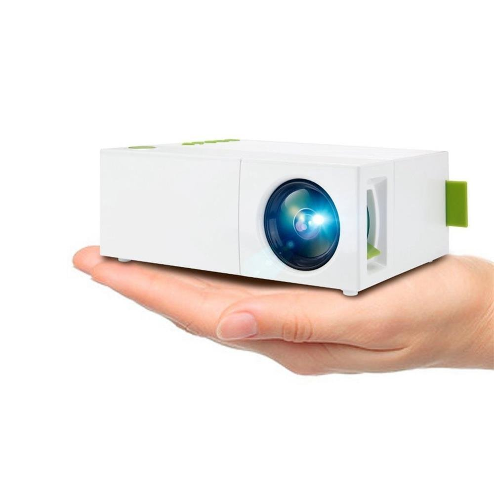 Mini Projector Portable Projector 1080P LED Video Projector for Home Cinema Theater Indoor/Outdoor Entertainment Games Parties (Does Not Include Battery, Plug-in Power Can Be Used) by Foneda