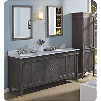spectacular fairmont designs rustic chic vanity. Fairmont Designs 143 V7221D Rustic Chic 72  Double Bowl Transitional Vanity in Silvered Oak
