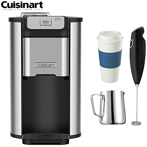 Cuisinart DGB-1FR Single Cup Coffeemaker (Refurbished) w/Coffee Drinker Bundle