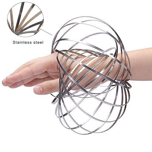 Wholesale Chakra Passion Spinner Ring Arm Slinkey Spring Toy Kinetic Spring Bracelet Multi Sensory Interactive 3D Shaped Flow Ring Fidget Toy For Kids Boys and Girl