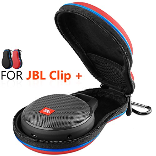 Hanlesi JBL Clip + Case, Waterproof Travel Carrying Accessories Hard Case with Storage Bag for JBL Clip + Wireless Bluetooth Speaker