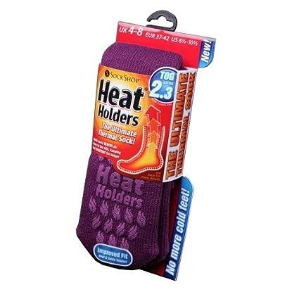 Womens/Ladies Heat Holders Extra Warm Thermal Slipper Socks (2.3 Tog), Lavender, UK 4-8 EURO 37-42