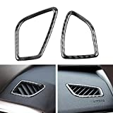 3 4 air vent - Carbon Fiber Air Condition AC Outlet Vents Interior Trim Stickers For BMW 3 4 Series F30 31 (2 piece)