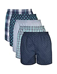 Gildan Men's Woven Boxer Underwear Multipack, Mixed Purple, XX-Large