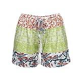 Nevera Ladies Shorts,Women Sexy Hot Pants Summer Casual Print High Waist Beach Shorts Green