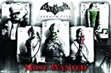 Trends International Arkham City Most Wanted Wall