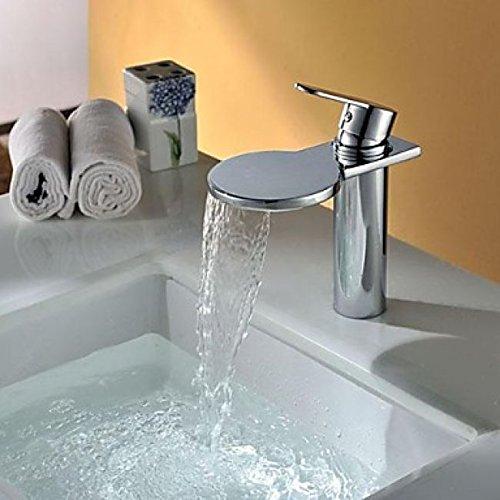 Robinet de lavabo contemporain à bec large