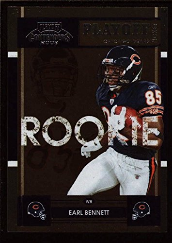 EARL BENNETT /99 $12+ MINT BEARS ROOKIE TICKET RC 2008 PLAYOFF CONTENDERS