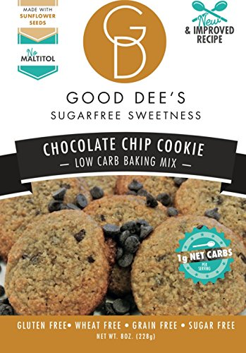 Good Dee's Chocolate Chip Cookie Mix - Low-carb, Sugar-free, Gluten-free! (Chocolate Sugar Free Cookie Mix)