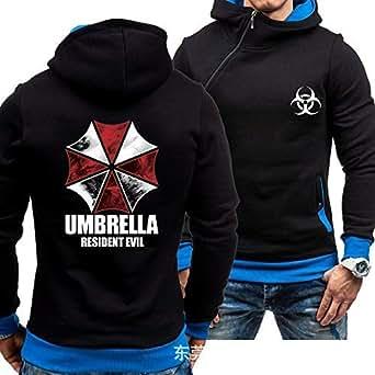 SGORLU Autumn Winter Resident Evil Sweatshirt Men Casual Pullover Sweater Coats Hooded New