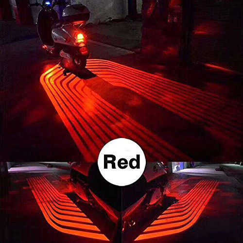 CLighting LED Auxiliary Lights Angel Wings Driving Rock Lamp for Car Motorcycles Jeep Trucks Off Road Bicycle Kawasaki Harley ATV SUV Vehicle Boat (Red)