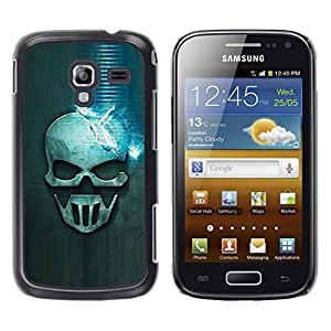 Be Good Phone Accessory // Dura Cáscara cubierta Protectora Caso Carcasa Funda de Protección para Samsung Galaxy Ace 2 I8160 Ace II X S7560M // Blue Skull