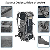 60L Waterproof Backpack, Ultra Lightweight Packable Climbing Fishing Traveling Backpack Hiking Daypack,Handy Foldable Camping Trekking Outdoor Rucksack Bag