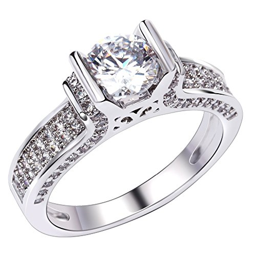 PSRINGS Wedding ring gold plated with Cubic zirconia luxury Rings tungsten ring lord of rings jewelry 7.0 (The Mini Of Rings Lord Film Cell)