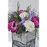 Silk-Blooms-Ltd-Beautiful-Artificial-Plum-Anemone-and-Lilac-Freesia-Floral-Table-Arrangement