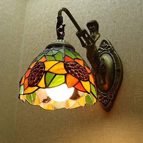 Tiffany Style Wall Lamp Garden Wall Lamp Sunflower Bedroom Bedside Lamp...