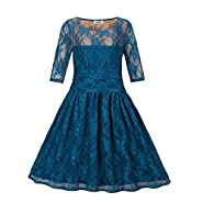 Dilanni Women maxi Lace Dresses Cocktail Wedding Dress Mother of Bride Dresses