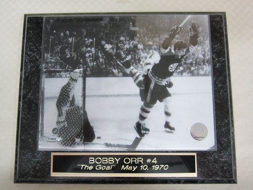 Bobby Orr Bruins THE FLYING GOAL Collector Plaque w/8x10 Photo