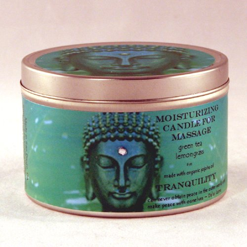 8 oz Buddhalicious Moisturizing Candle for Massage Tranquility by Natural Selection Bath and Body